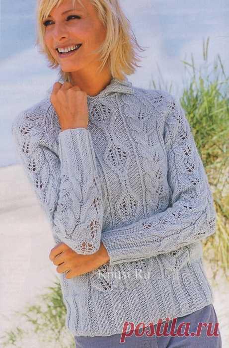 женская ажурная кофта самое интересное в блогах вязание спицами