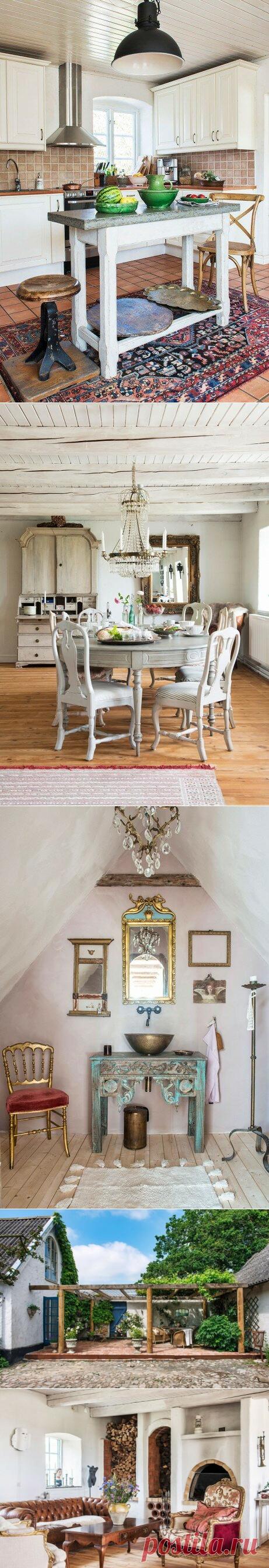 Дом художницы Кристины Дидрикссон (Швеция): классический шведский дом с непримиримым интерьером. Контраст позолоты и штукатурки | АРТбук Ульяновой | Яндекс Дзен
