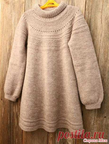 c51b8cb02c0 Детское платье спицами - Вязание - Страна Мам .