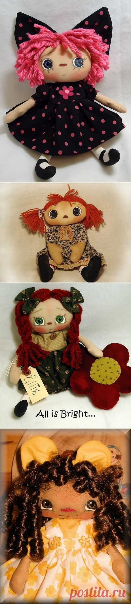 Como dibujar a las muñecas las mirillas (modelos) \/ los juguetes Diversos de la labor a mano \/ PassionForum - las clases maestras por la costura