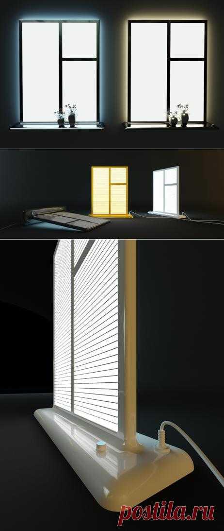 Искусственный свет в окошке. Фальш-окна в доме.