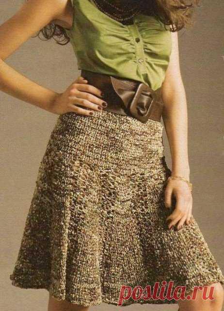 вязаные юбки спицами схемы для начинающх с описанием и фото