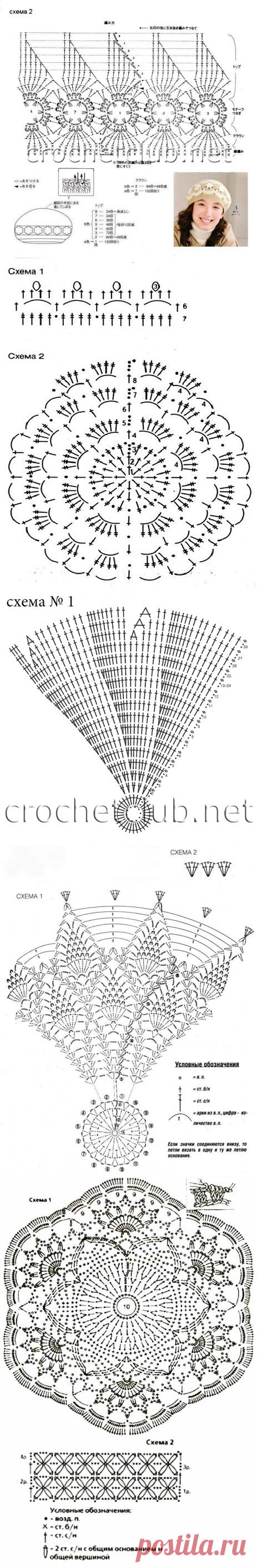 картинки вязание крючком береты вязание на спицах уроки вязания