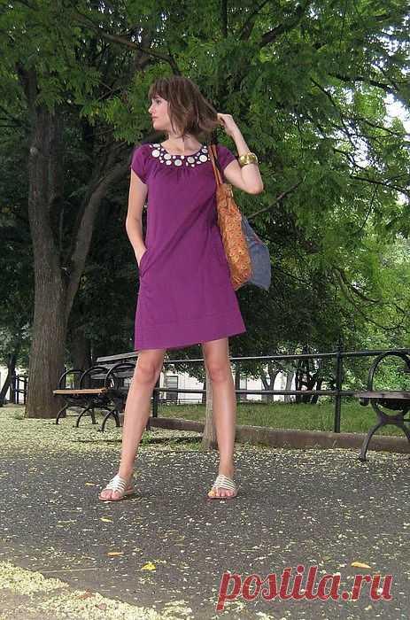 Декор платья пуговками / Платья Diy / Модный сайт о стильной переделке одежды и интерьера