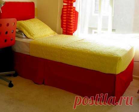 Подзор для кровати: каким он бывает и как его сшить?   Дизайн спальни