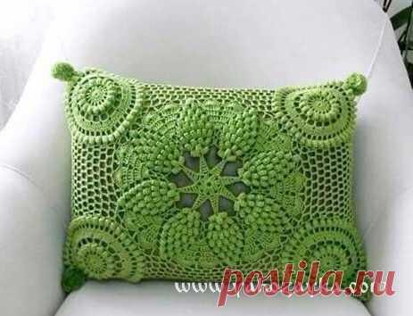 декоративная подушка крючкомсхемы вязание крючком подушки на диван