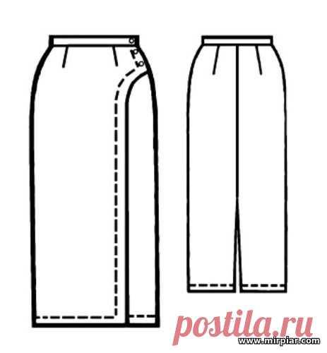 (+2) Юбка с фигурным запахом (шитье, выкройки)