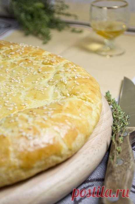 Лепешка из творожного теста с сыром   Самые вкусные кулинарные рецепты