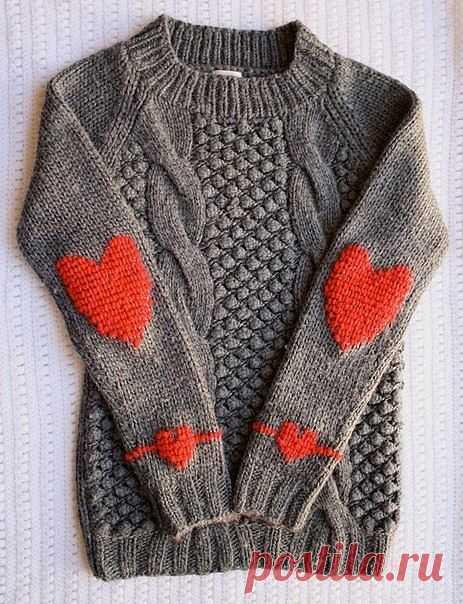 Вязаный свитерок / Вязание / Модный сайт о стильной переделке одежды и интерьера