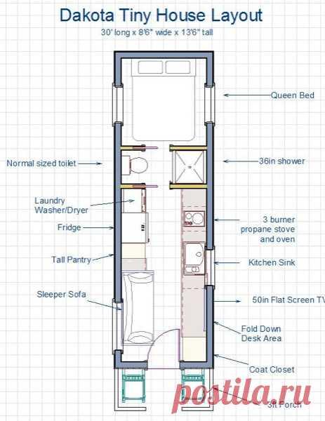 255 Sq. Ft. Dakota Tiny House: Built like a House, Works like an RV