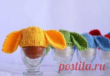 Заячьи шапочки для пасхальных яиц.