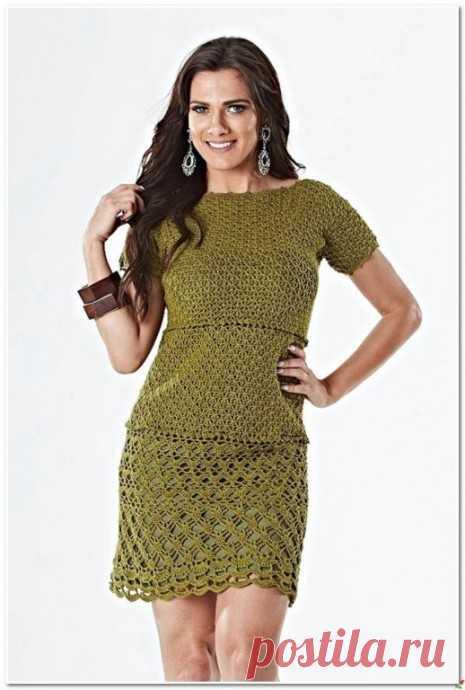 Платье крючком из категории Интересные идеи – Вязаные идеи, идеи для вязания