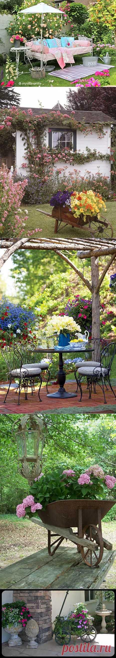 Уютные садовые уголки.
