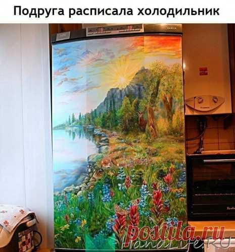 Роспись холодильника / Живопись и графика