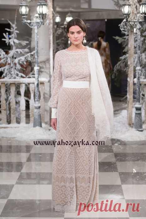 платье шетландским узором спицами шетландское вязание спицами плать
