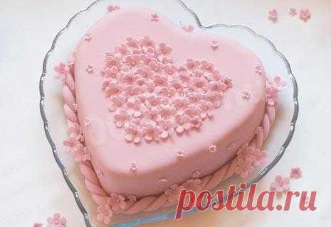 Торт Розовое Сердце с шоколадом и орехами рецепт с фото - 1000.menu