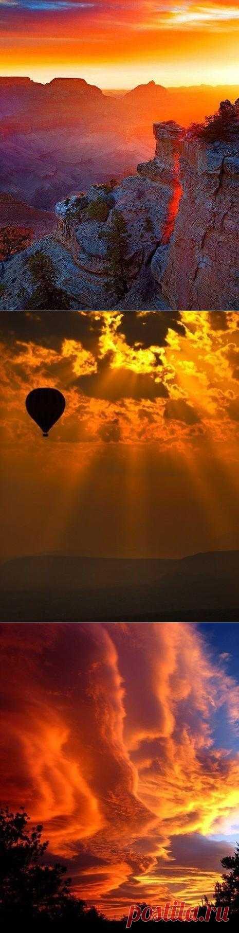 Безупречная красота закатного неба