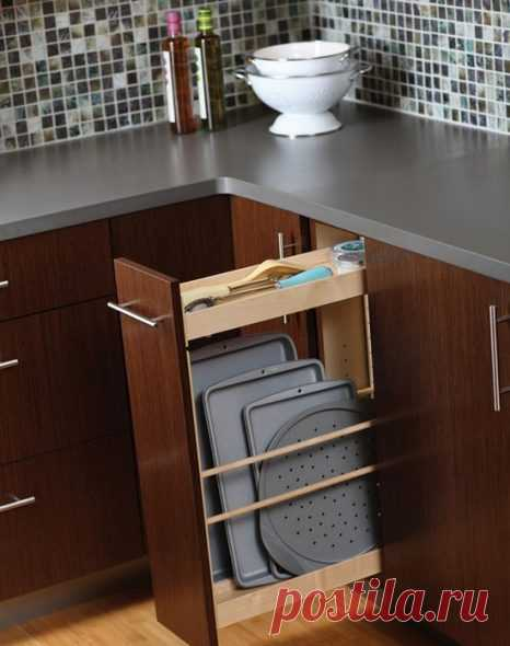 Полки карго на кухне