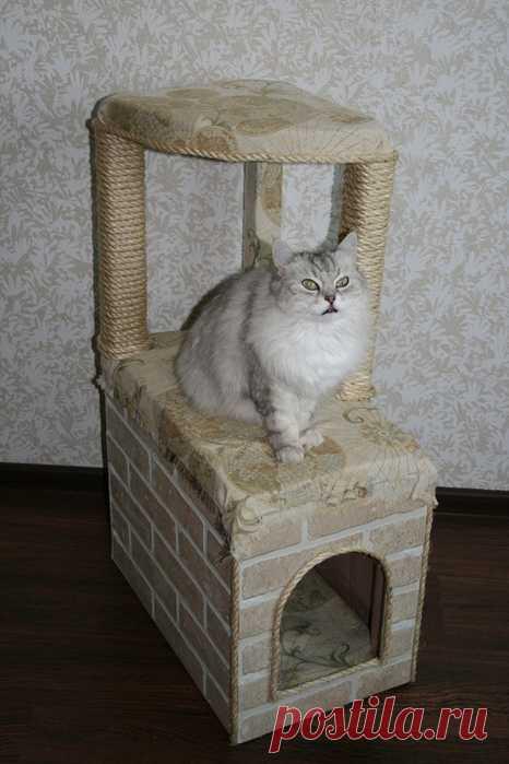 Делаем домик для кошки своими руками. Мастер класс