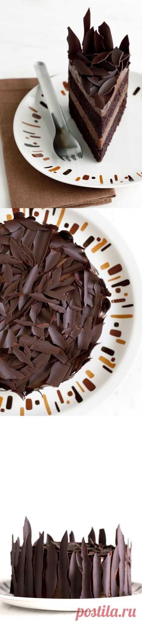 """Оформление торта """"Шоколадные осколки"""". (Описание по клику на картинку)."""
