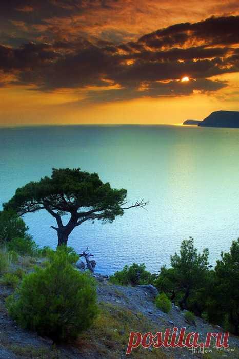 Завораживающий крымский закат. Мыс Айя, Крым