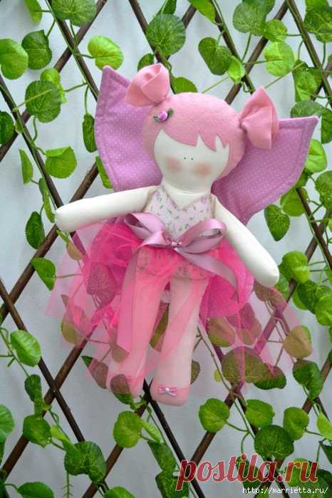 Текстильная куколка Бабочка. Выкройка