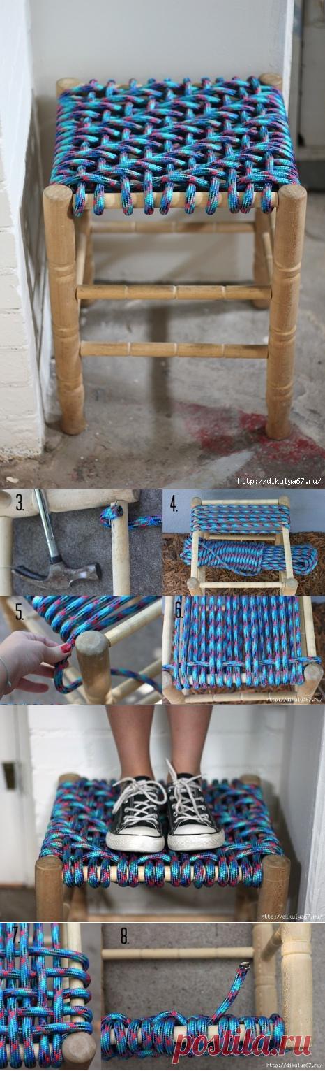 Идея обновления табурета — Сделай сам, идеи для творчества - DIY Ideas