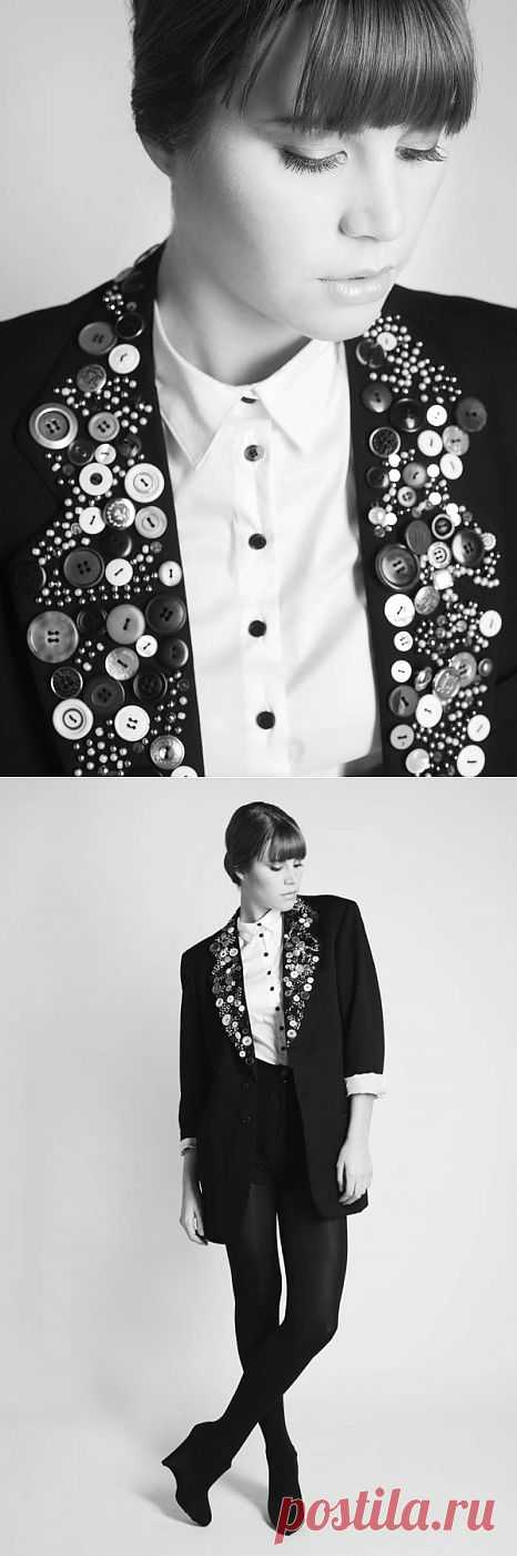 Пиджак с пуговицами / Жакеты / Модный сайт о стильной переделке одежды и интерьера