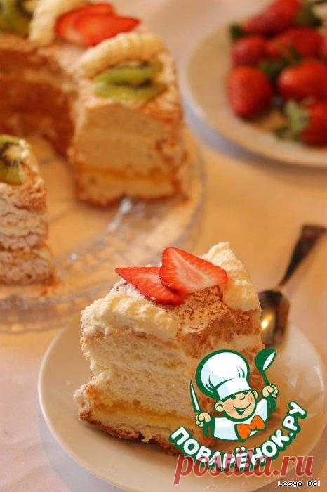 """Торт """"Пища ангела"""" или ангельский бисквит."""