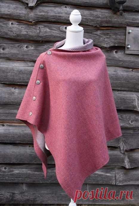 Простая идея пошива пончо для прохладных дней ранней осени