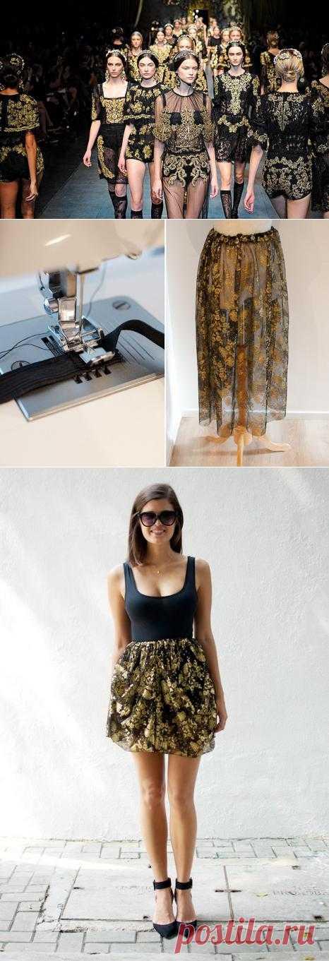 Модная юбочка: просто и быстро