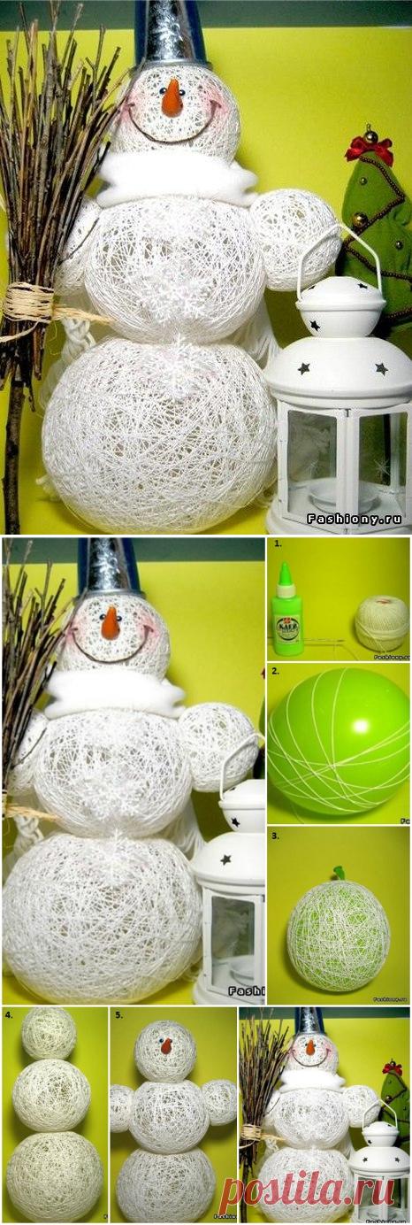 Creative Way to Make a Snowman - DIY - AllDayChic