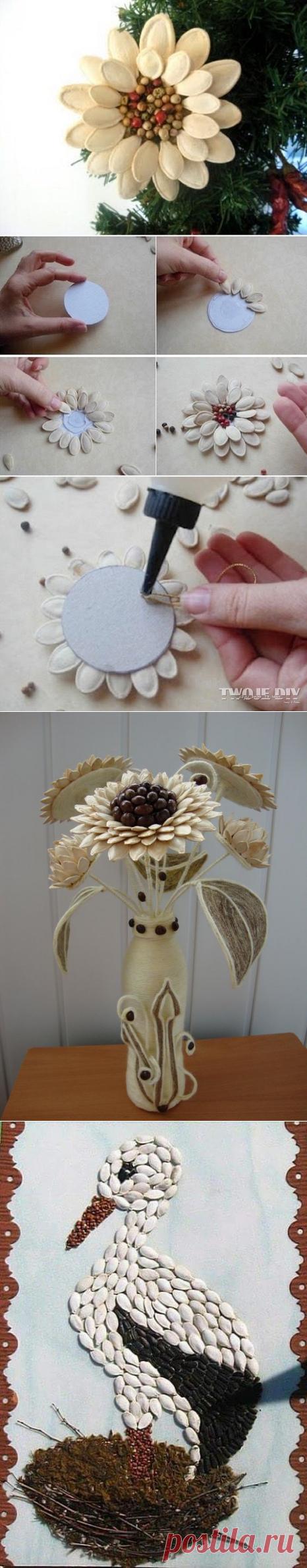 Идеи поделок из тыквенных семечек для украшения кухни — Сделай сам, идеи для творчества - DIY Ideas