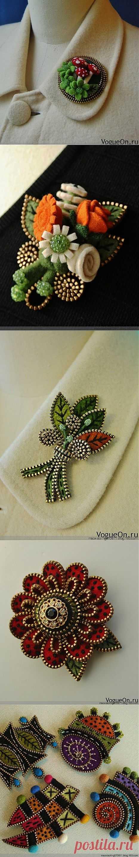 19 Ways to Make Felted Zipper Brooch | www.FabArtDIY.com