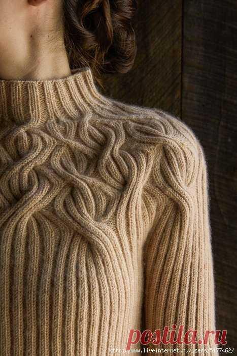 Пуловеры спицами 379