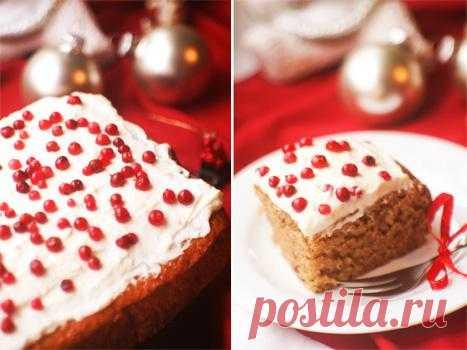 Рецепт Рождественский мягкий пипаркоок со сливочной глазурью.