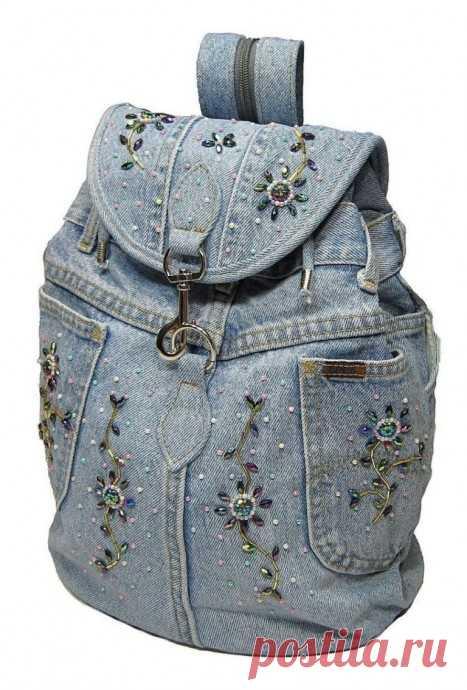 Моделирование рюкзаков из джинсовой ткани