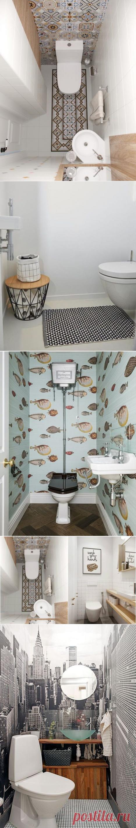 Секреты стильной организации небольшого туалета   Мой дом