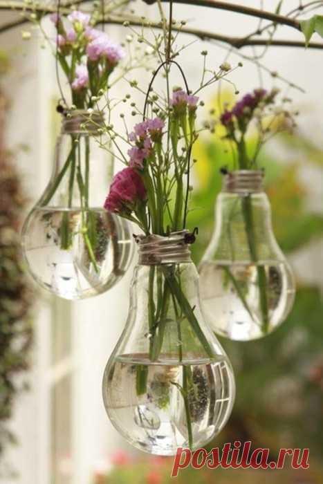 вазочки из старых лампочек