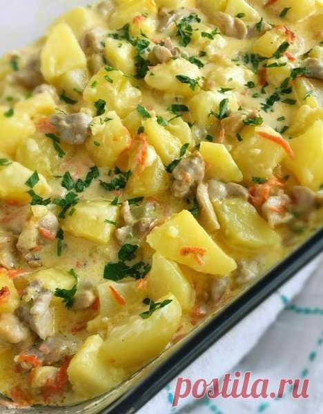 Сливочный картофель с курицей. Очень вкусный. | Cooking | Яндекс Дзен