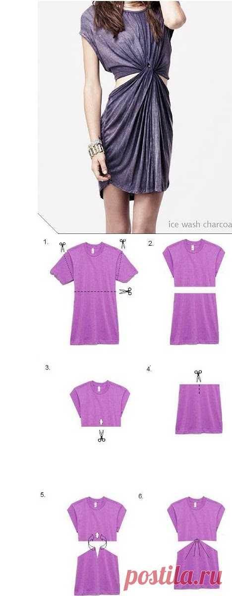 Платье из футболки / Футболки DIY / Модный сайт о стильной переделке одежды и интерьера