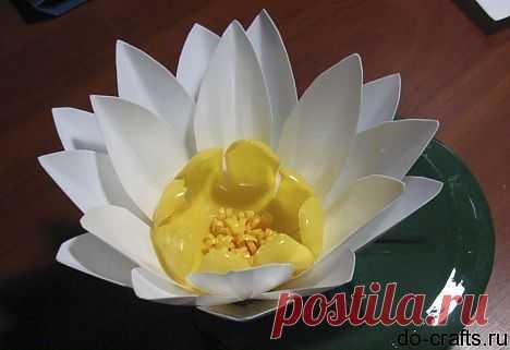 Лилии из пластика для декоративного пруда.