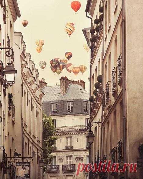 In the sky over Paris
