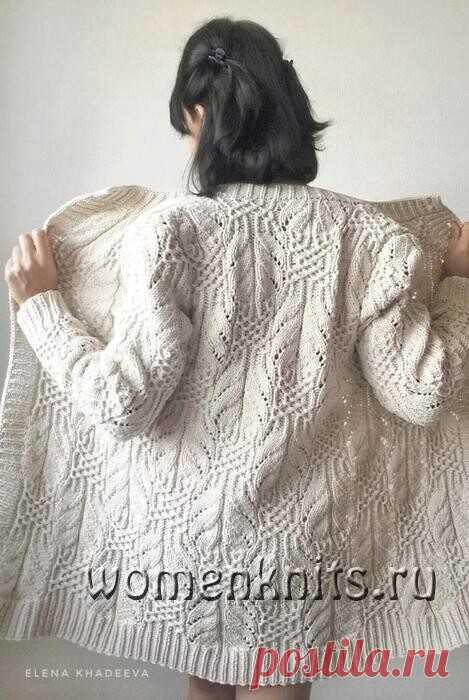 Кардиган узором «Японские бабочки» спицами Схема: http://womanknits.ru/vyazanie-dlya-zhenshchin/palto-kardigany-zhakety/kardigan-uzorom-yaponskie-babochki-spicami
