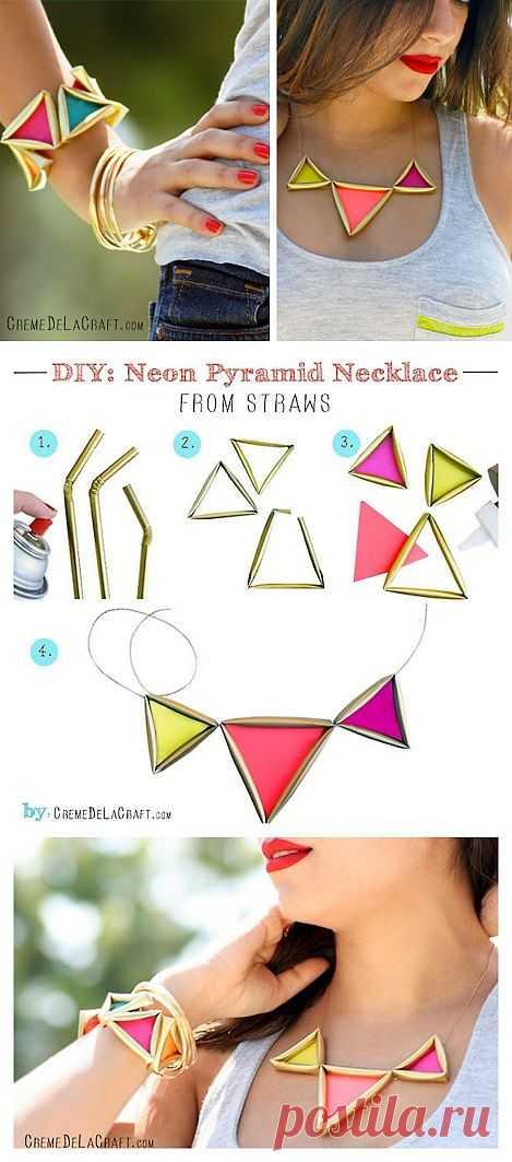 Неоновые пирамиды(мастер - класс) / Украшения и бижутерия / Модный сайт о стильной переделке одежды и интерьера