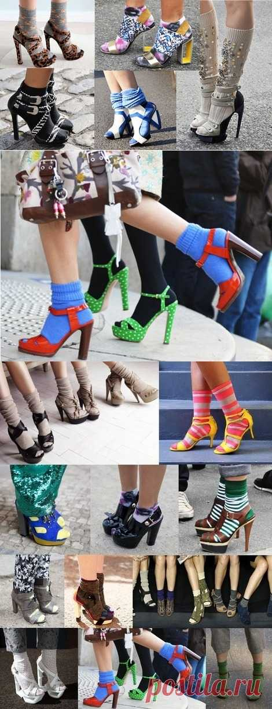 Носки и босоножки - новый тренд ?