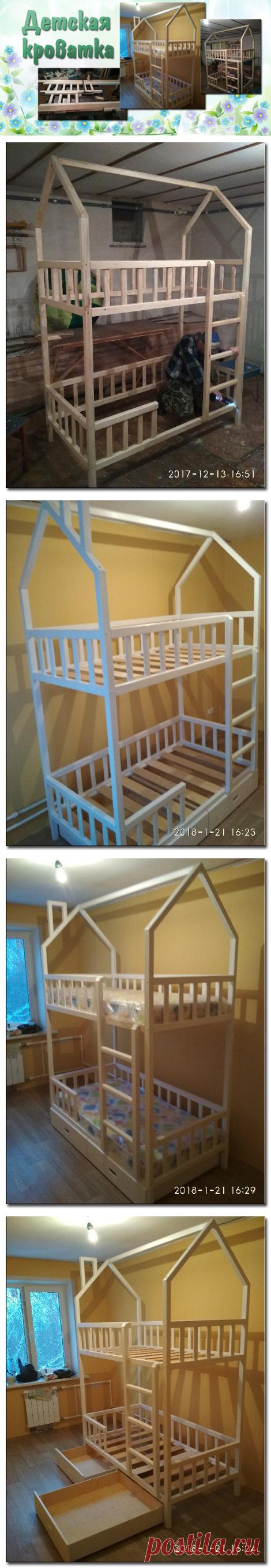 Детская двухъярусная кроватка | Для тех, кто любит работать с деревом