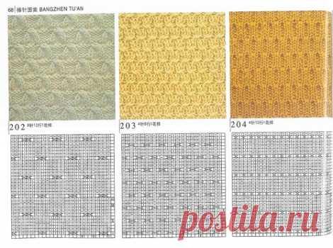 Схемы простых рисунков вязания спицами с описанием