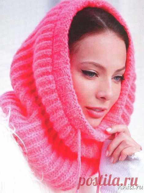 Розовый шарф .