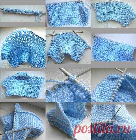 основные схемы вязания пинеток спицами вязаниепинеткидетские